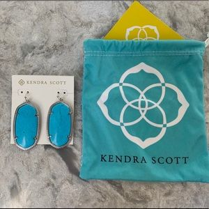 Kendra Scott Teal Magnesite Silver Earrings